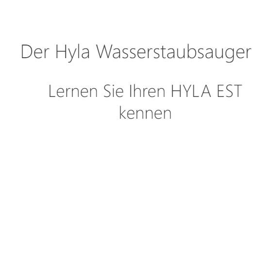 hyla_wasserstaubsauger in Rheinland-Pfalz